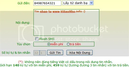 Love For HT, gởi tin nhắn SMS miễn phí, free SMS, send SMS for free
