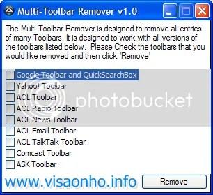 Multi-Toolbar Remover: Loại bỏ các toolbar trên trình duyệt web