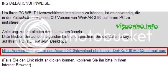 Bản quyền WinRAR 3.80 miễn phí