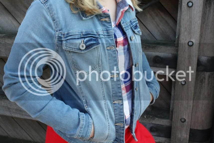 outfit, kleding, ootd, modesty, modest, rok, blouse, spijkerjasje, hm, naaien, zelfgemaakt, life with anchors, anna laura