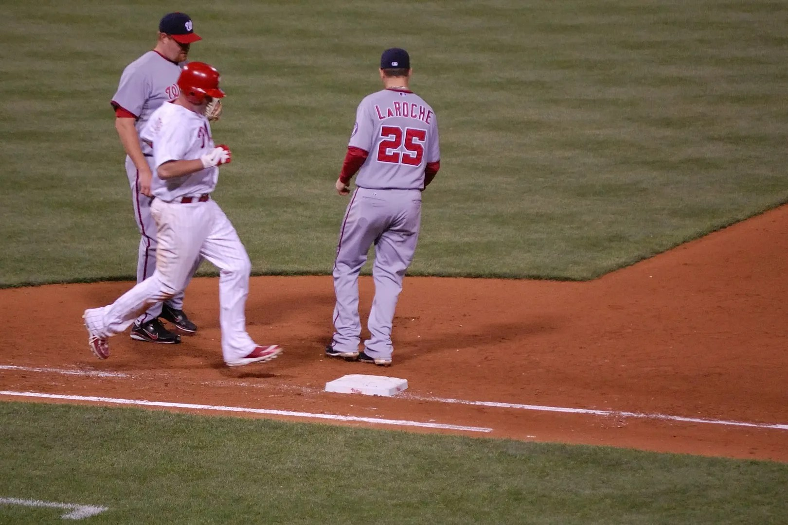 Shane Victorino Grounds to First