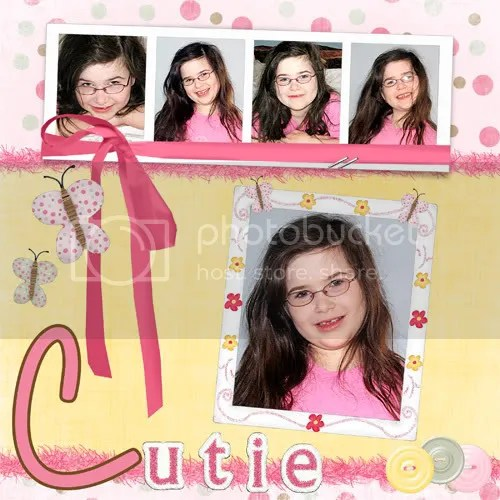 cutie pie scrapbook page
