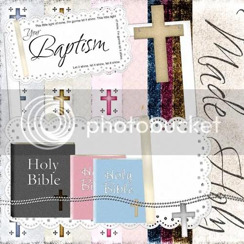 baptism digital scrapbook freebie
