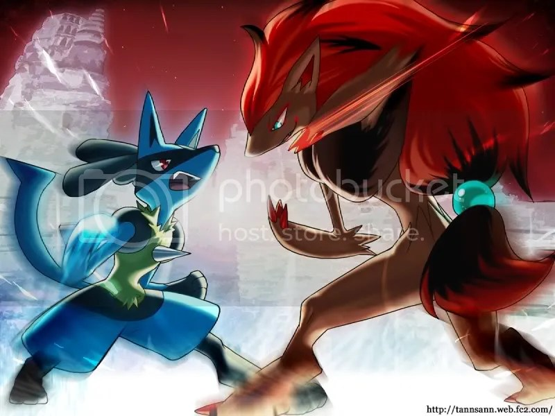 Lucario VS. Zoroark Pictures, Images and Photos