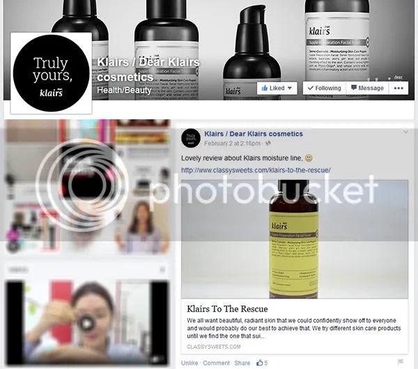 Press: Featured at Klairs / Dear Klairs Cosmetics   Facebook