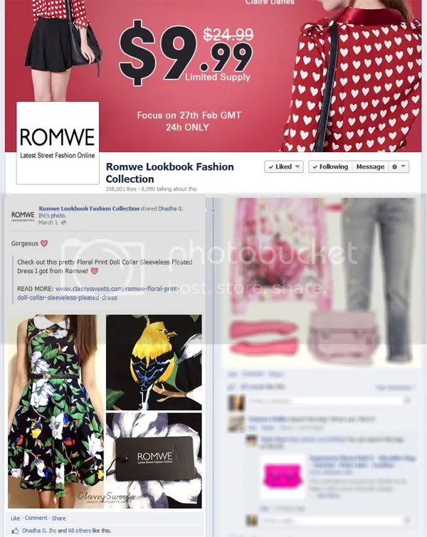 Press: Featured at Romwe Lookbook Fashion Collection   Facebook