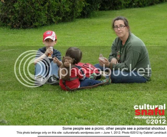 ...don't shoot, it's  family picnic.