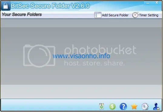 Bảo mật folder với BitSec Secure Folder