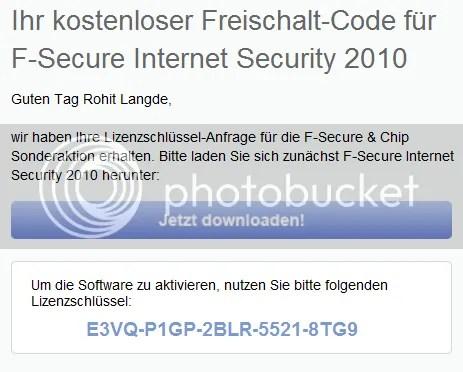 F-Secure Internet Security 2011: Key bản quyền miễn phí 6 tháng