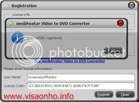 Bản quyền mediAvatar Video to DVD Converter miễn phí