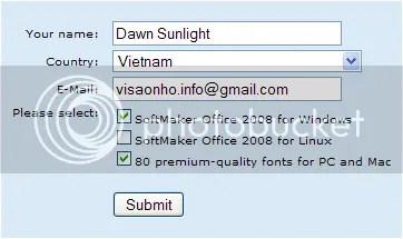Download SoftMaker Office 2008 có bản quyền và làm từ thiện