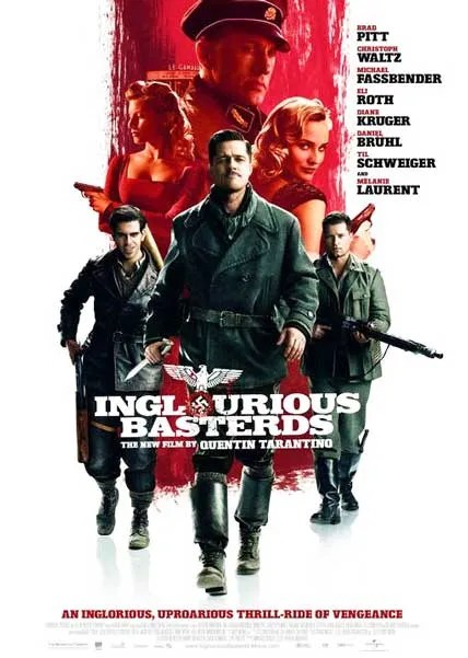 Inglourious Basterds DVDRip wwII world ward 2 war movie nazis brad pitt