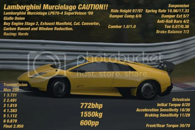gran turismo 6 lamborghini murcielago lp670 4 sv tune. Black Bedroom Furniture Sets. Home Design Ideas