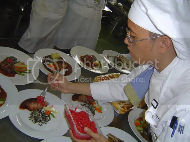 JB in culinary school