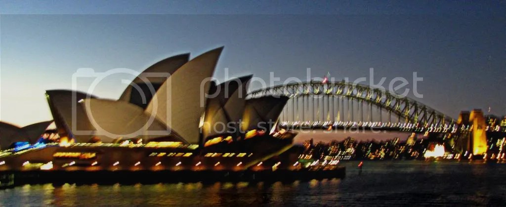 The Sydney Opera House and the Harbor Bridge