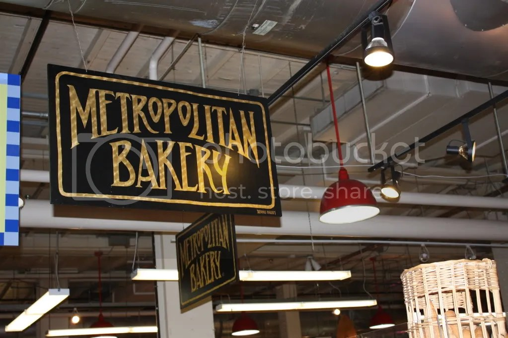Signs for the Metropolitan Bakery