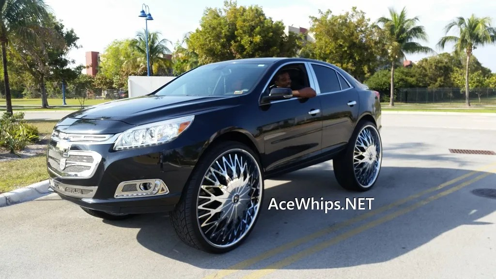 Vons King Chevy Malibu On 32 Dub Zeus Floaters Ddfg Official Website