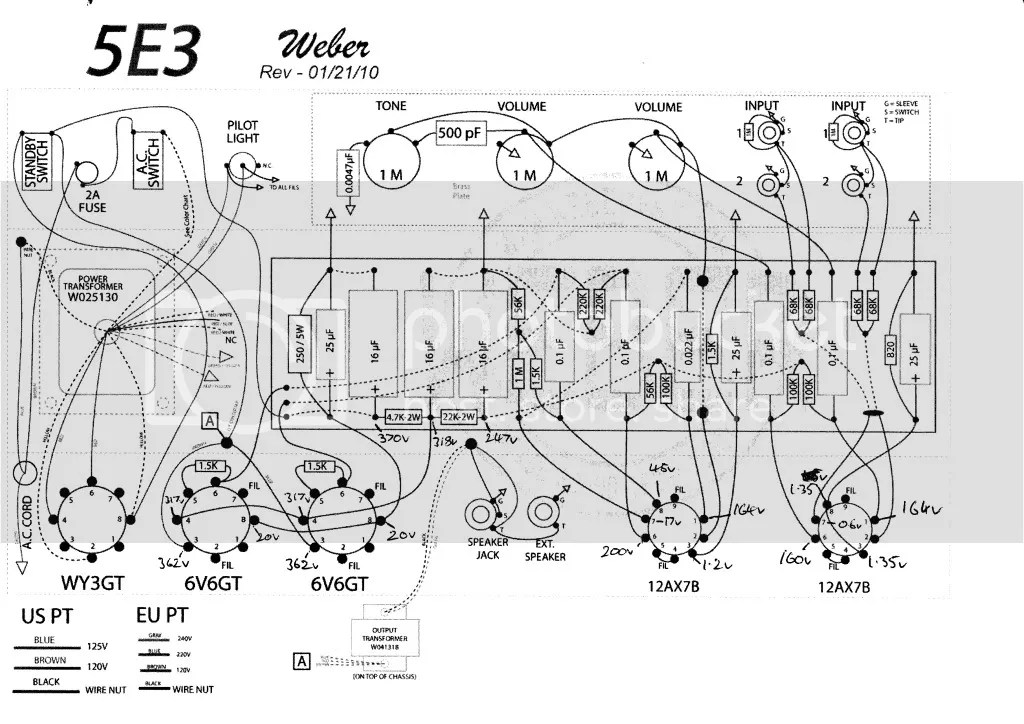 Help With 5e3 Voltages 1st Deluxe Build