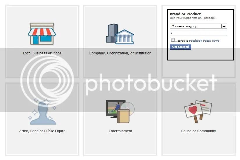 Facebook Create Page