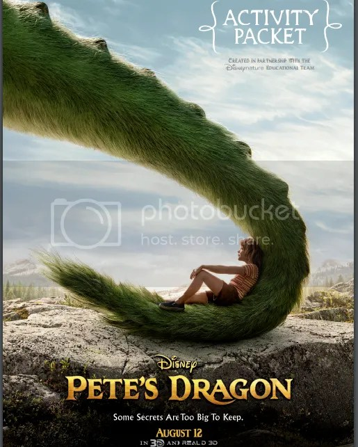Pete's Dragon Activity Sheets, Pete's Dragon Activity Packet, Pete's Dragon Coloring Pages