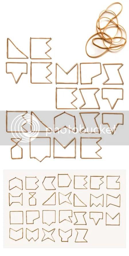 Rubber Band Alphabet By Nicolas Queffelec