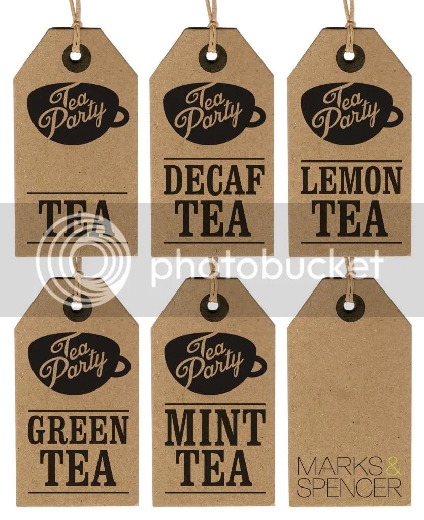 Tea Party Teabag Labels M&S Picnic