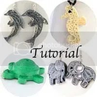 paper quilled animal jewelry tutorial