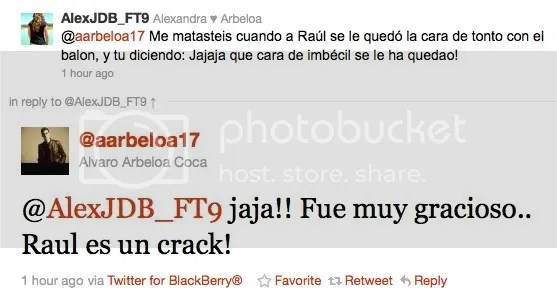 Álvaro tweets about the prank… | following Real Madrid