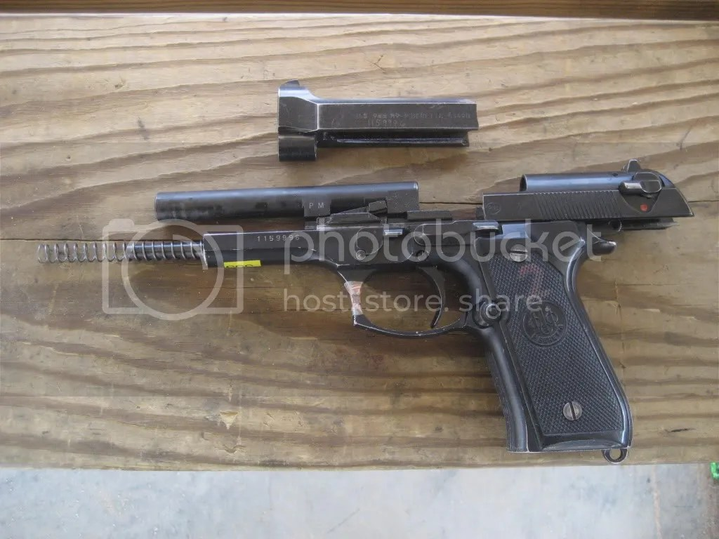 Rupture de culasse sur un M9 de l'U.S. Army (Source: m4carbine.net).