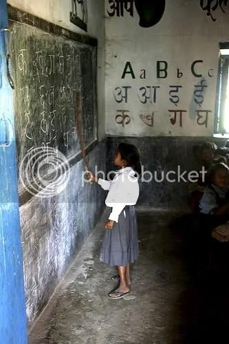 Girl in Nelpal school in Chitwan