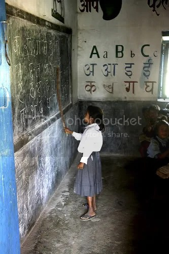 Girl in Nelpal school in Chitwan