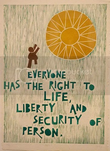 Poster showing Article 4 - Universal Declaration of Human Rights