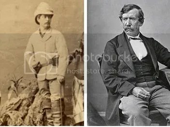 (left-to-right)  Journalist, Henry Morton Stanley and Explorer, Dr. David Livingstone