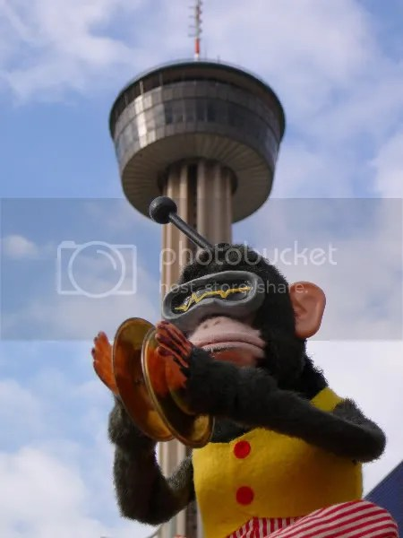 Monkbot at Tower of the Americas