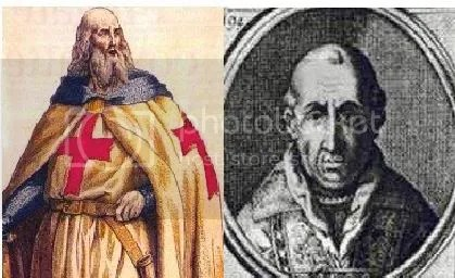 jacques de molay vs papa clemente V