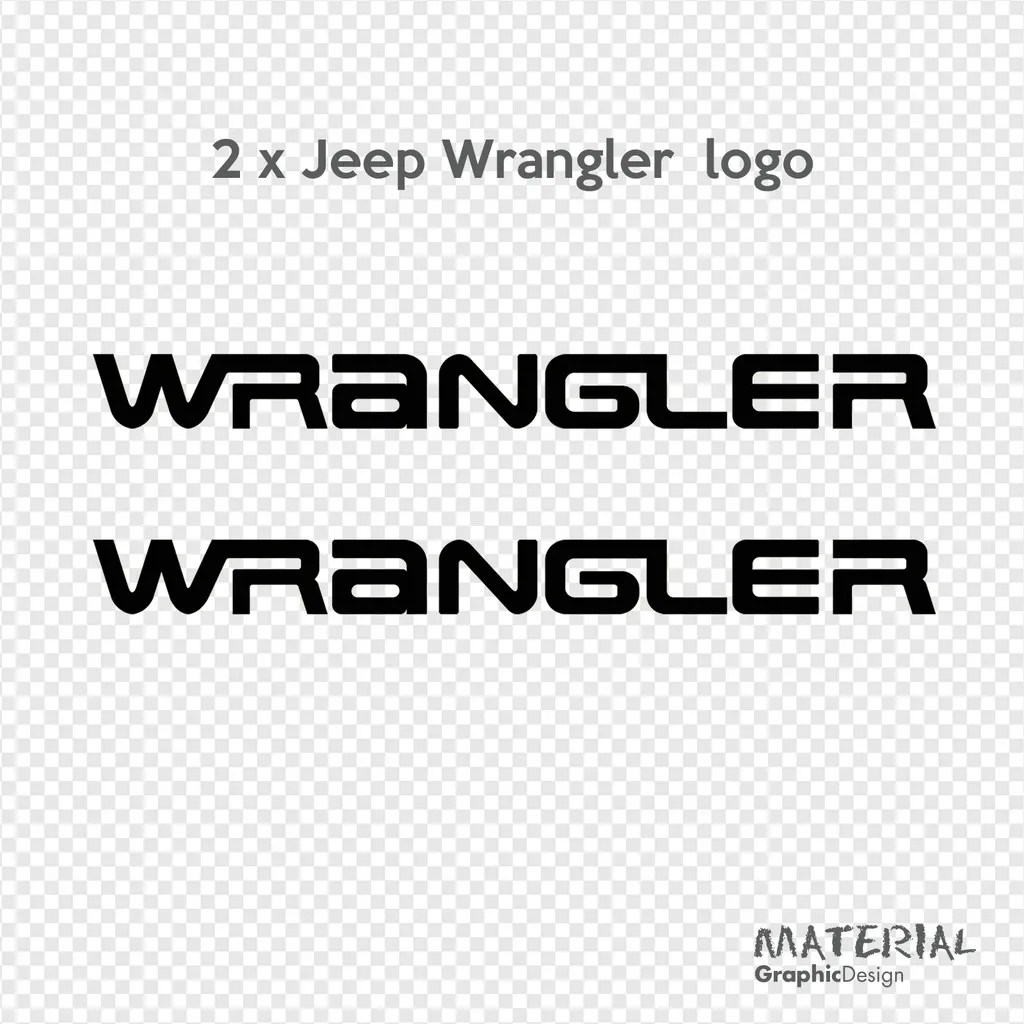 2x Jeep Wrangler Logo Sticker Decal