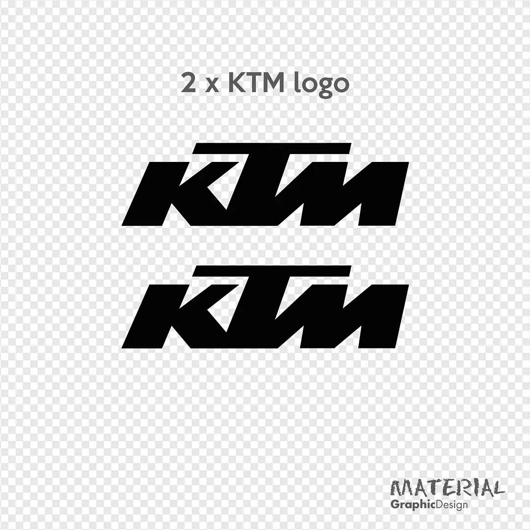 2x Ktm Racing Sticker Decal