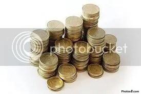 moedas empilhadas dinheirinho