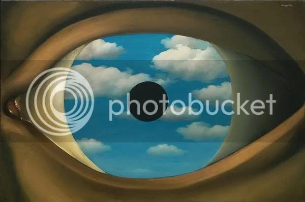 "Rene Magritte's ""The False Mirror"""
