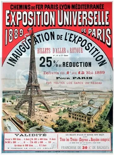 Poster for the Universelle Exposition de 1889, Paris