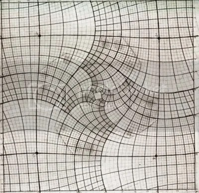 Escher's distorted grid for