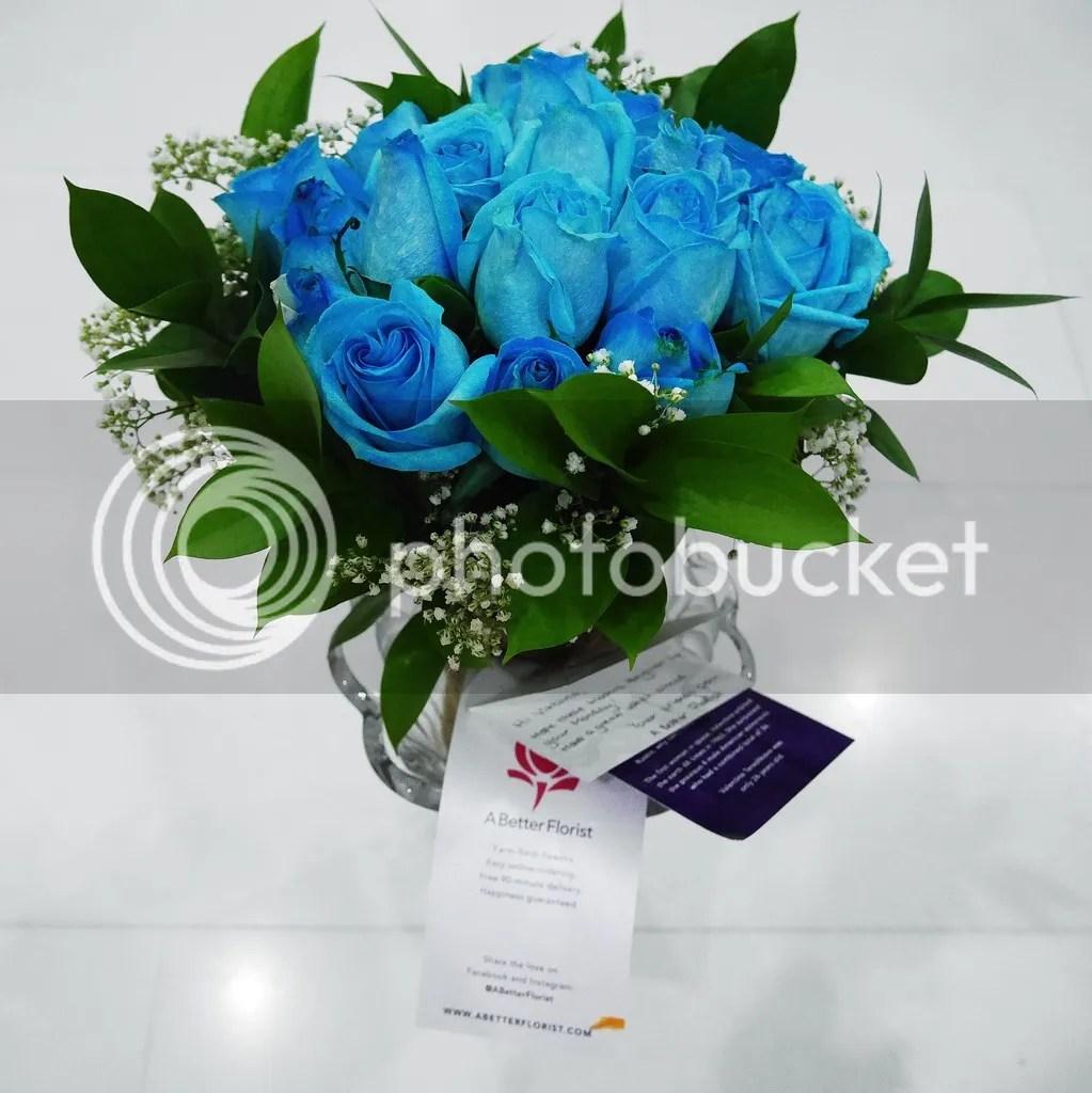 Blue Roses, A better florist, Singapore, Viktoria Jean