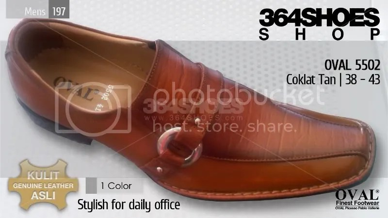 Sepatu Pria OVAL 5502 Tan Coklat