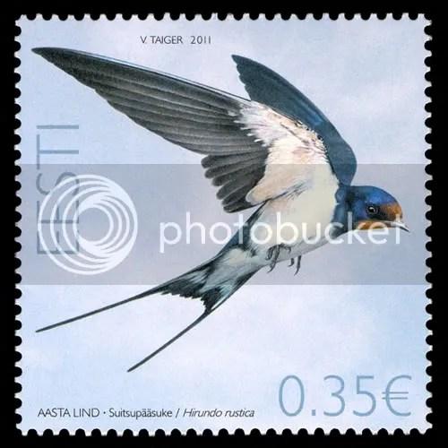 Estonian swallow stamp