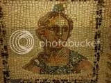 mosaic head of a woman