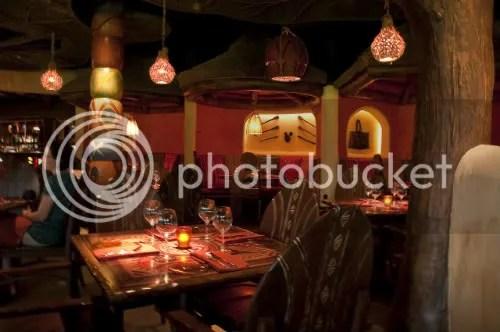 Sanaas Dining Room is Warm and Dimly Lit