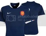 France Rugby Nike 2009/11 Home and Away Jerseys