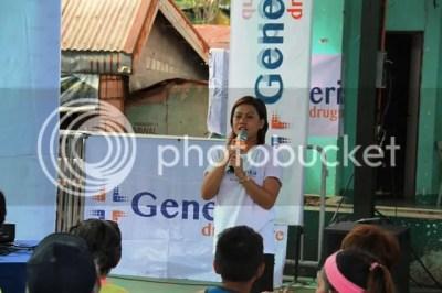 Generika Drugstore Gabay Kalusugan Campaign Maricris Aquino Delivering Gabay Kalusugan Talk