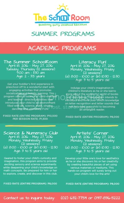 The SchoolRoom Academic Summer Programs