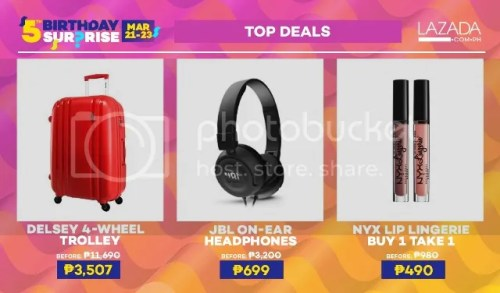 Lazada 5th Birthday 5TH-BDAY-TOPDEALS-SET-1